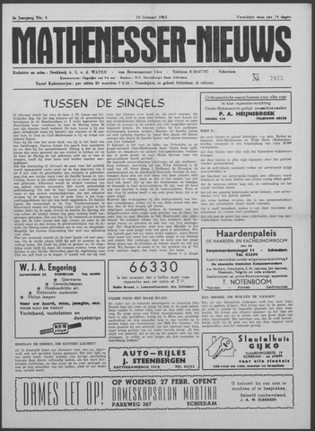 Mathenesser Nieuws 1963-02-14