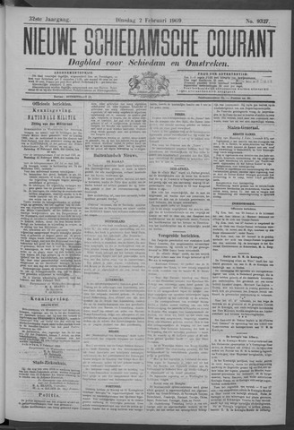 Nieuwe Schiedamsche Courant 1909-02-02