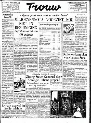 Trouw / De Rotterdammer 1956-09-18