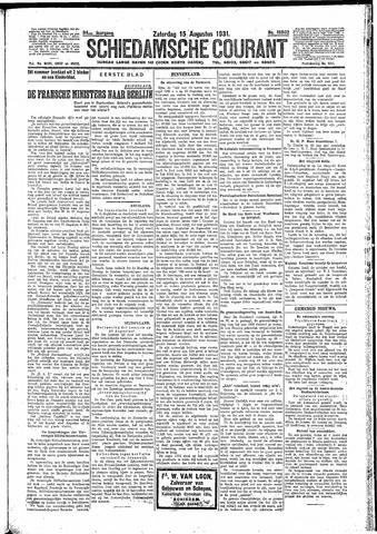 Schiedamsche Courant 1931-08-15