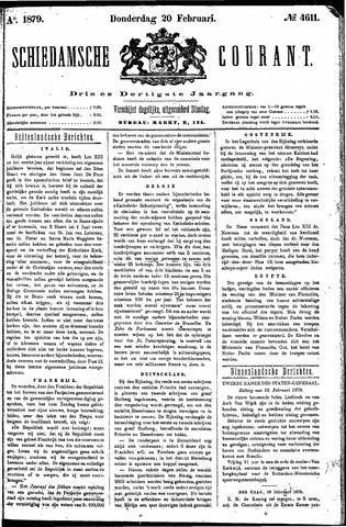 Schiedamsche Courant 1879-02-20