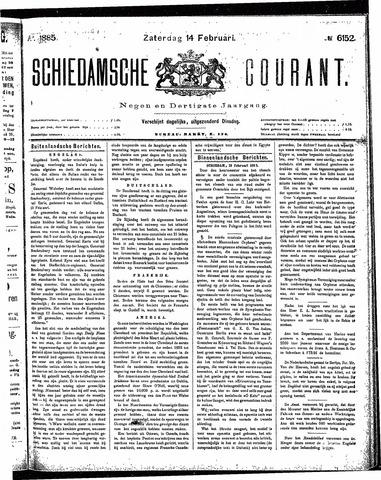 Schiedamsche Courant 1885-02-14