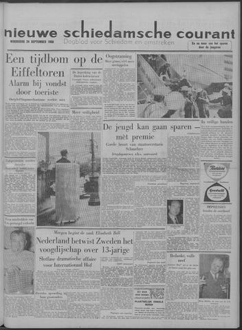 Nieuwe Schiedamsche Courant 1958-09-24