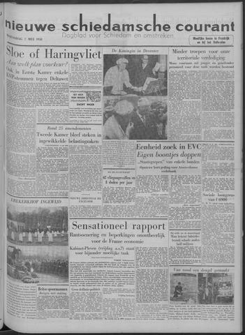 Nieuwe Schiedamsche Courant 1958-05-07
