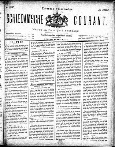 Schiedamsche Courant 1885-11-07