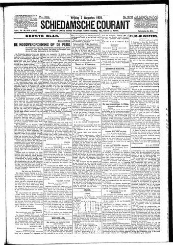 Schiedamsche Courant 1931-08-07