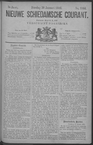 Nieuwe Schiedamsche Courant 1886-01-26