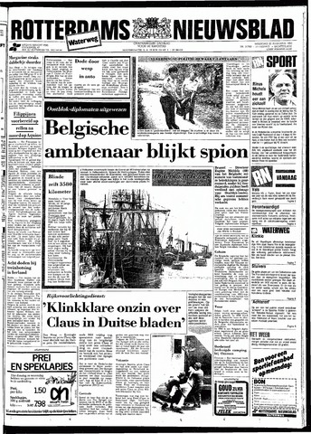Rotterdamsch Nieuwsblad / Schiedamsche Courant / Rotterdams Dagblad / Waterweg / Algemeen Dagblad 1983-08-22