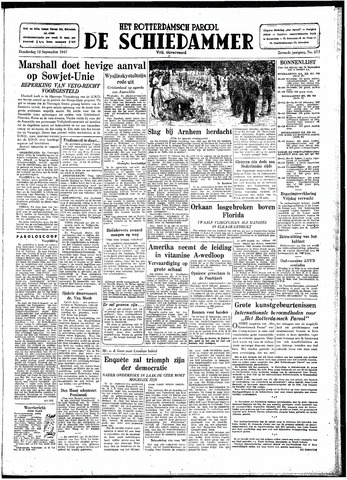 Rotterdamsch Parool / De Schiedammer 1947-09-18