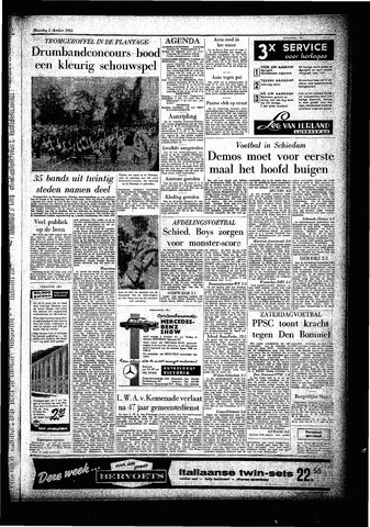 Rotterdamsch Parool / De Schiedammer 1961-10-02
