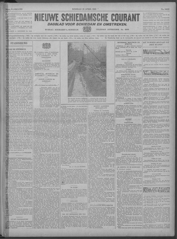 Nieuwe Schiedamsche Courant 1933-04-25