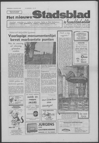 Het Nieuwe Stadsblad 1966-08-03