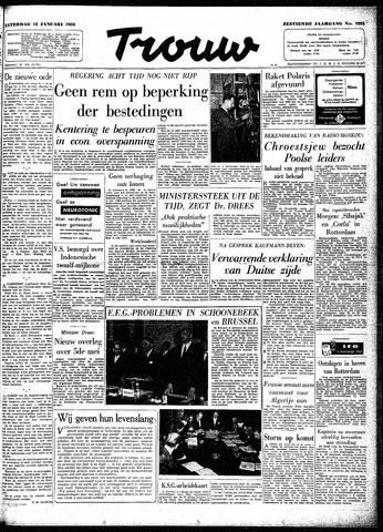 Trouw / De Rotterdammer 1958-01-18