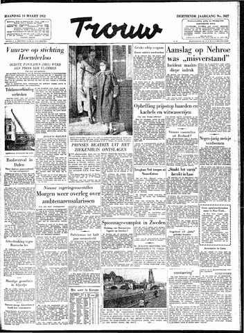 Trouw / De Rotterdammer 1955-03-14