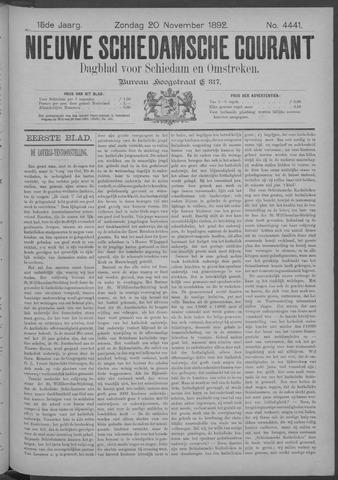 Nieuwe Schiedamsche Courant 1892-11-20