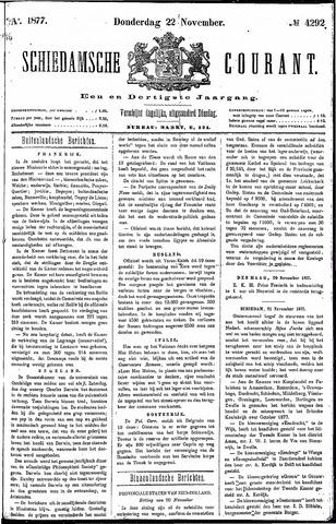 Schiedamsche Courant 1877-11-22