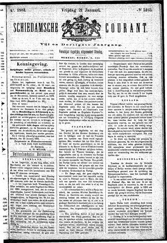 Schiedamsche Courant 1881-01-21