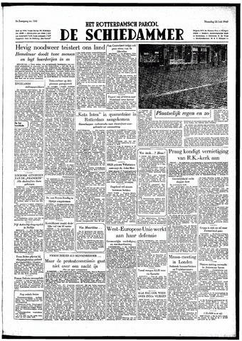 Rotterdamsch Parool / De Schiedammer 1949-07-18