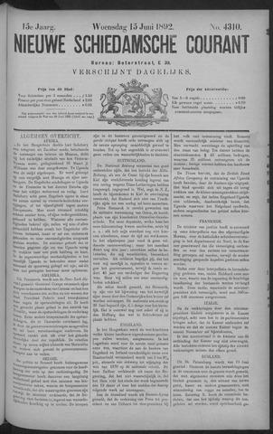 Nieuwe Schiedamsche Courant 1892-06-15
