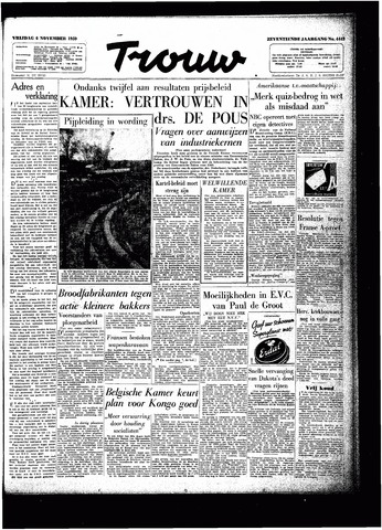 Trouw / De Rotterdammer 1959-11-06