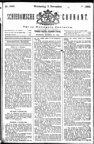 Schiedamsche Courant 1881-11-02