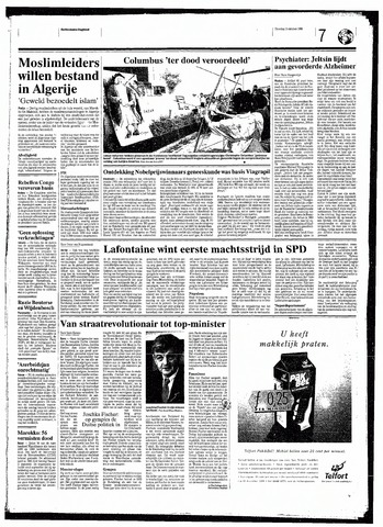 Rotterdamsch Nieuwsblad / Schiedamsche Courant / Rotterdams Dagblad / Waterweg / Algemeen Dagblad 1998-10-13