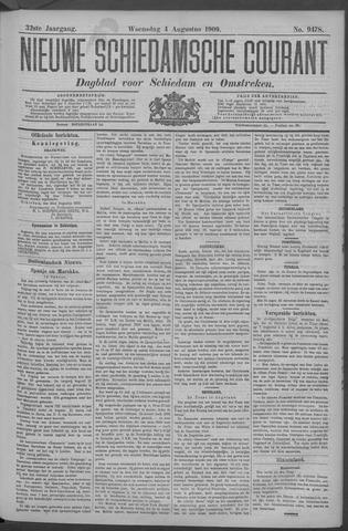 Nieuwe Schiedamsche Courant 1909-08-04