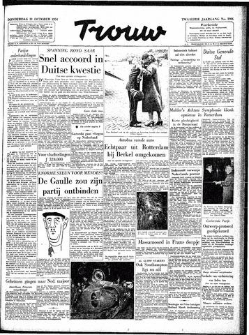 Trouw / De Rotterdammer 1954-10-21