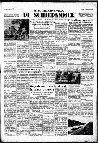 Rotterdamsch Parool / De Schiedammer 1949-09-09