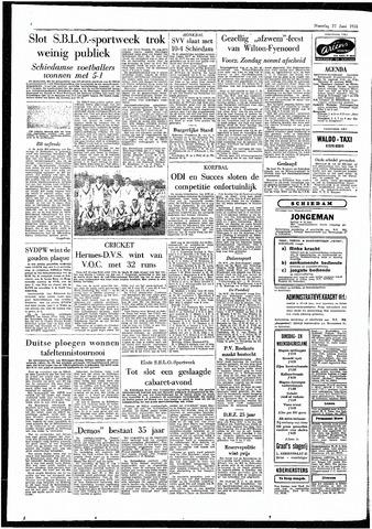 Rotterdamsch Parool / De Schiedammer 1955-06-27