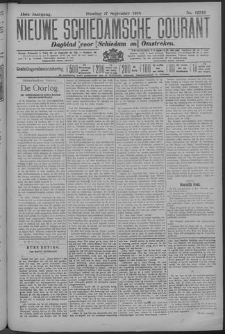 Nieuwe Schiedamsche Courant 1918-09-17