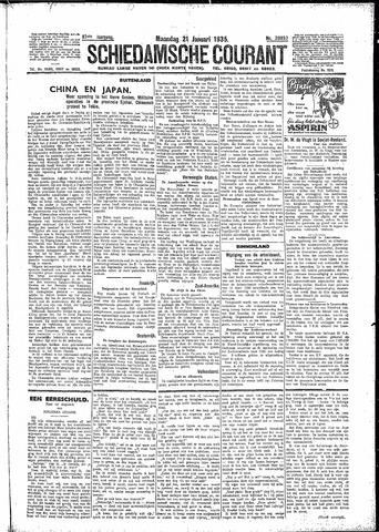 Schiedamsche Courant 1935-01-21