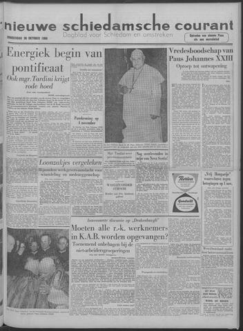 Nieuwe Schiedamsche Courant 1958-10-30