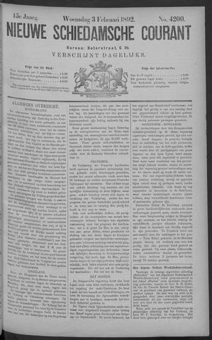 Nieuwe Schiedamsche Courant 1892-02-03