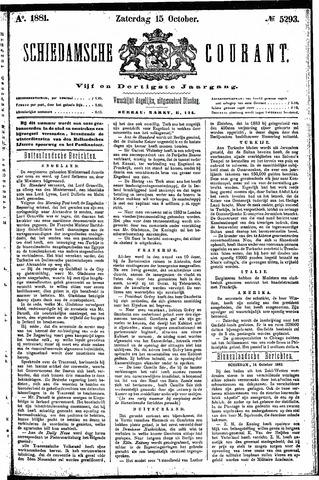 Schiedamsche Courant 1881-10-15