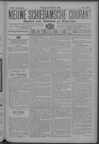 Nieuwe Schiedamsche Courant 1917-10-26
