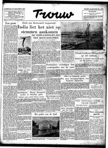 Trouw / De Rotterdammer 1953-08-29