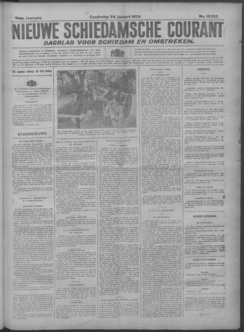Nieuwe Schiedamsche Courant 1929-01-24
