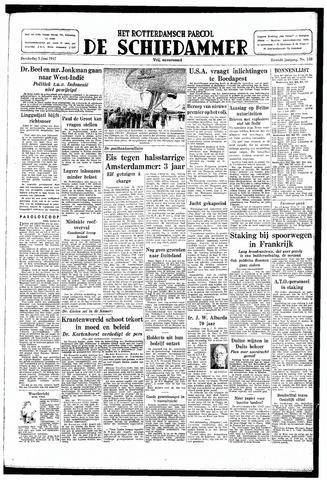 Rotterdamsch Parool / De Schiedammer 1947-06-05
