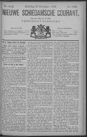 Nieuwe Schiedamsche Courant 1886-12-25