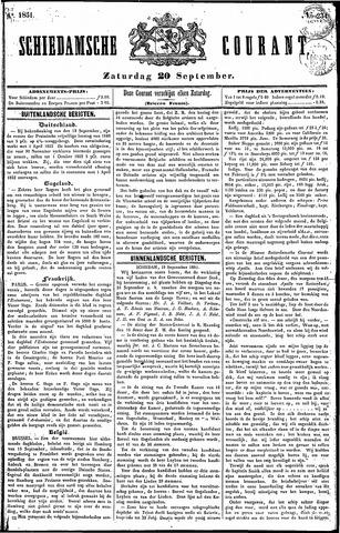 Schiedamsche Courant 1851-09-20