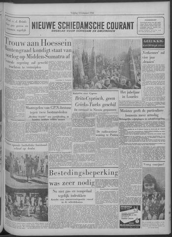 Nieuwe Schiedamsche Courant 1958-02-14