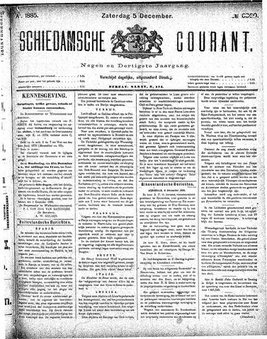 Schiedamsche Courant 1885-12-05