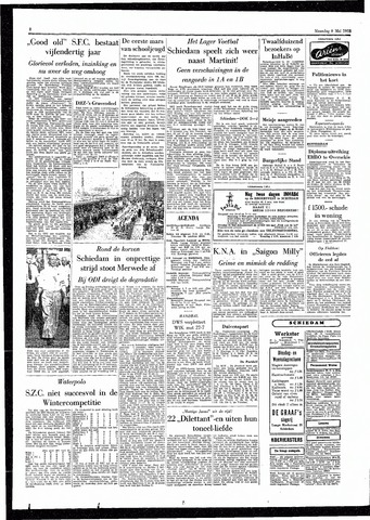 Rotterdamsch Parool / De Schiedammer 1955-05-09