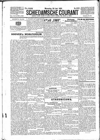 Schiedamsche Courant 1931-06-24