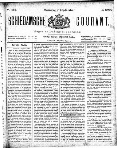 Schiedamsche Courant 1885-09-07