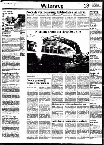 Rotterdamsch Nieuwsblad / Schiedamsche Courant / Rotterdams Dagblad / Waterweg / Algemeen Dagblad 1991-06-11