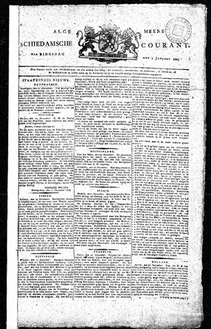 Algemeene Schiedamsche Courant 1809