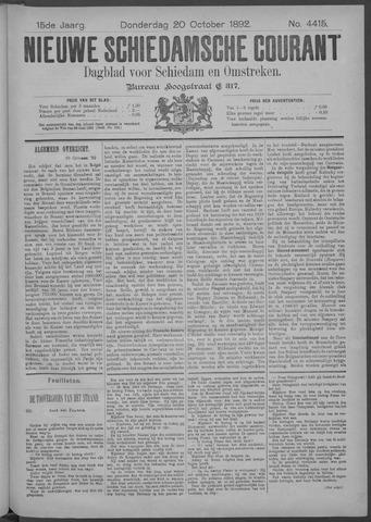 Nieuwe Schiedamsche Courant 1892-10-20