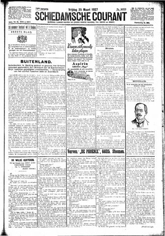 Schiedamsche Courant 1927-03-25